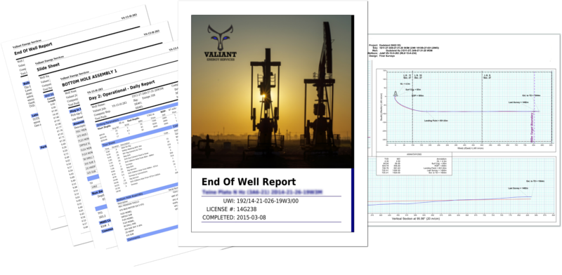 Valiant Energy End Of Well Reports